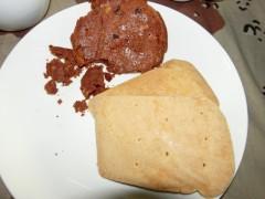 パンとチョコレートパンケーキ