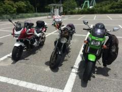ツーリング参加者のバイクたち