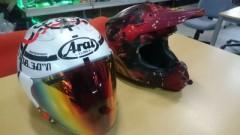 Y(クマ)のヘルメット